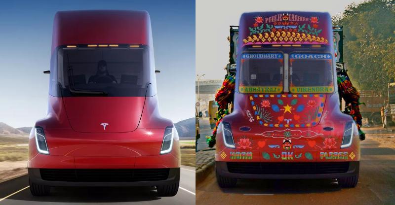 ऐसा दिखेगा Tesla का सेमी-ट्रक अगर हुआ इंडिया में लॉन्च