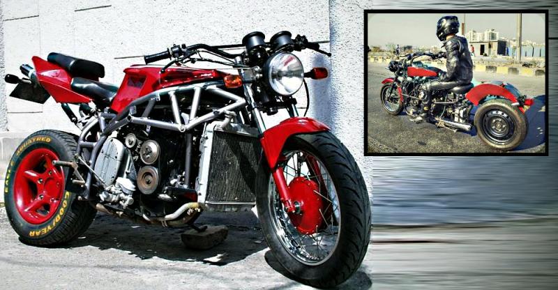 मोटरसाइकिल में कार का इंजन, हब्लेस टायर, ये हैं इनके निर्माता…