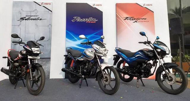 Hero Motocorp ने की Passion Pro, XPro और Super Splendor इंडिया में लॉन्च