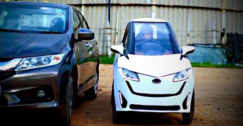 इंजीनियरिंग स्टूडेंट्स ने बनायीं इलेक्ट्रिक माइक्रो कार 'Delight' (विडियो)