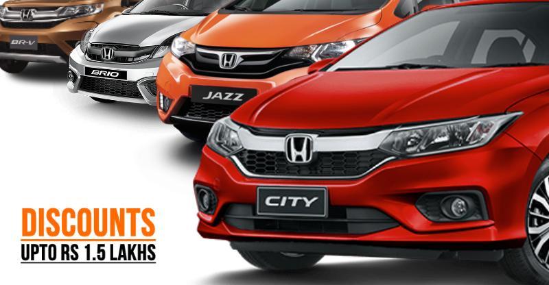 Honda City, Jazz, Amaze, Brio, BR-V, CR-V पर December में भारी छूट…