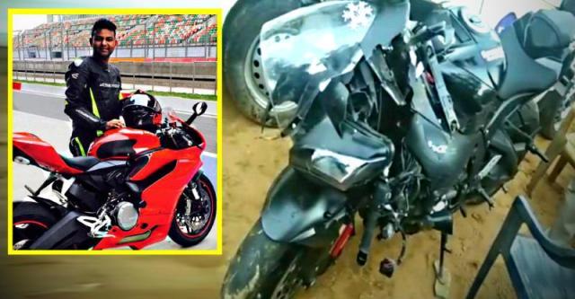 हेलमेट न निकलने के चलते Kawasaki Ninja ZX10R राइडर की जयपुर में मौत.