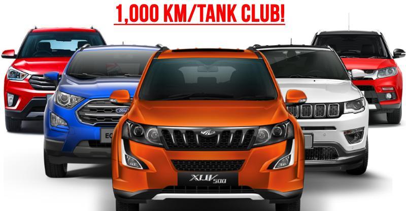 Maruti Brezza से Mahindra XUV500 तक, 10 SUVs जो फुल टैंक पर 1,000 km तक जाएंगे…