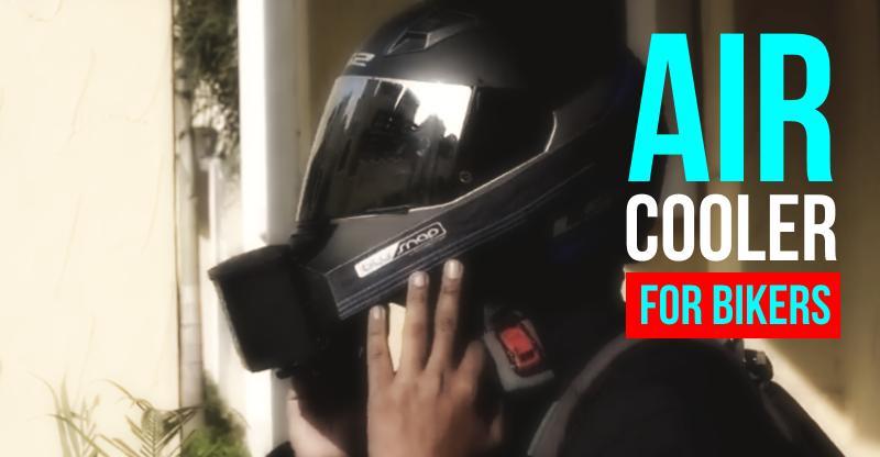 Helmet Air Cooler, वो भी मात्र 1,600 रूपए में! खुद देखिये…