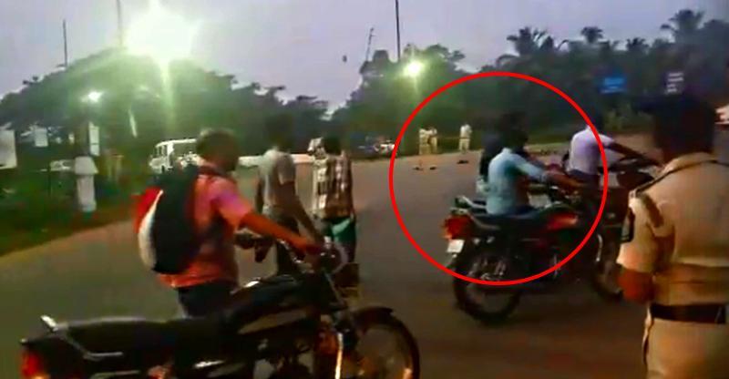 देखिये इन बाइकरों को बिना हेलमेट की राइडिंग के लिए चालान से बचते – खुद ये कोशिश न करें!!