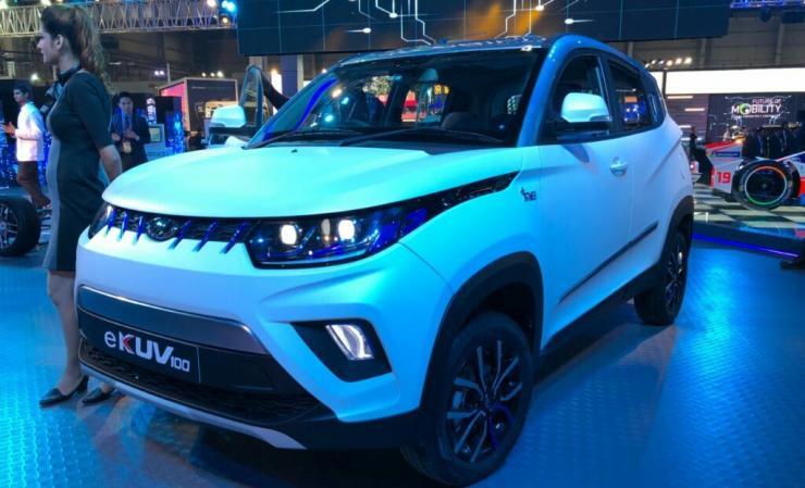 Mahindra KUV100 Electric SUV हुई 2018 Auto Expo में डिस्प्ले; ये है रेंज और टॉप-स्पीड