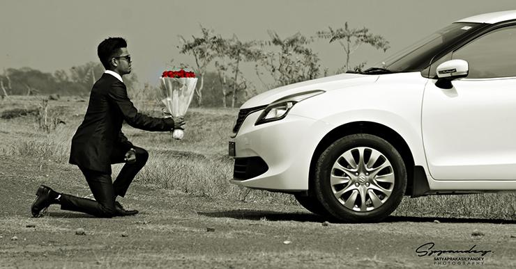 Maruti Baleno के मालिक नें कार के साथ मनाया Valentine's Day!