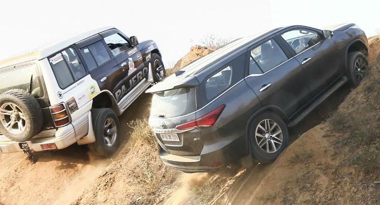 Toyota Fortuner, Safari Storme, Scorpio, XUV 500 and Pajero SFX का Off-Road Match (VIDEO)