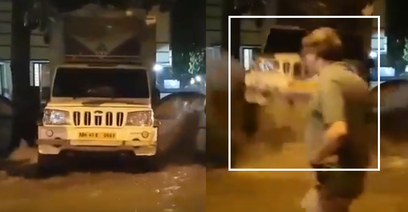 पाइप के फटने से Mahindra Bolero उड़ गयी हवा में… [Video]