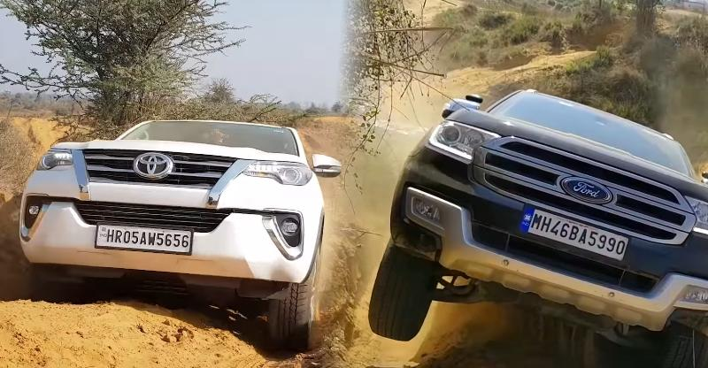 Toyota Fortuner और Ford Endeavour और एक Off-Road Battle [Video]