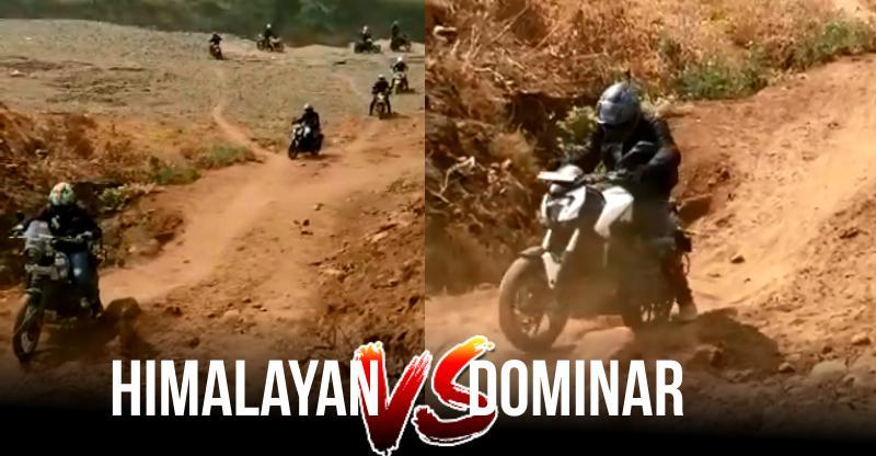 Bajaj Dominar Vs. Royal Enfield Himalayan और Off-Road Track: देखें क्या हुआ [Video]