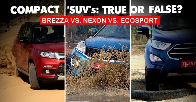 Maruti Suzuki Brezza vs Tata Nexon vs Ford EcoSport; Compact SUV Off-Road मुकाबला