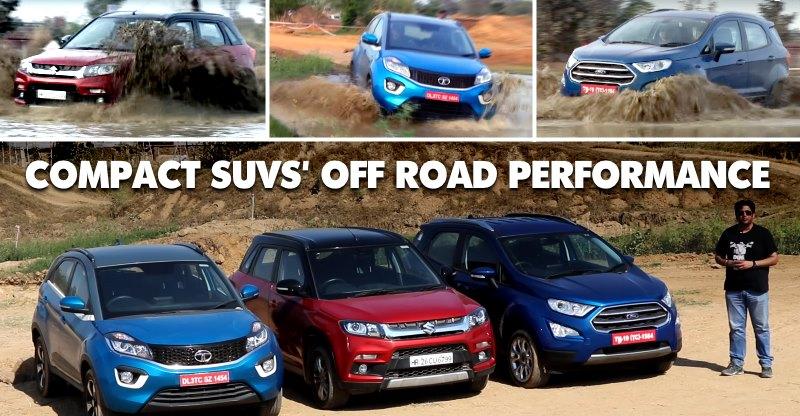 Maruti Brezza vs Tata Nexon vs Ford EcoSport: Compact SUVs के Offroad Battle का Video