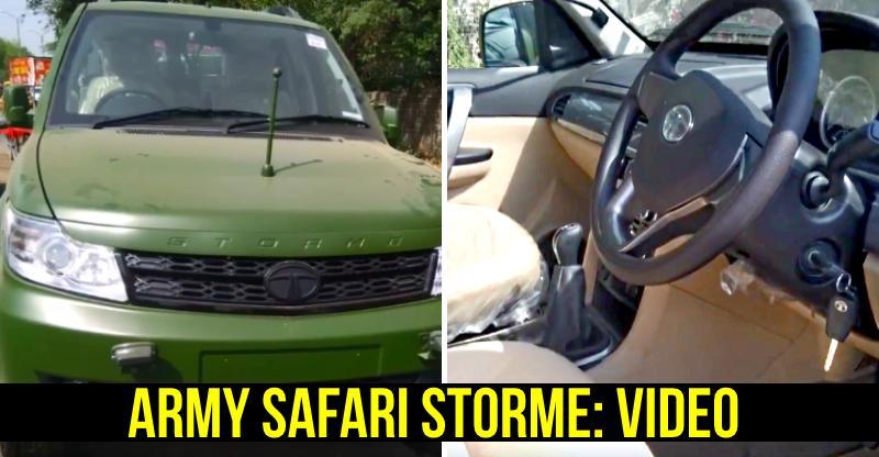 पेश है Indian Army की Tata Safari Storme: विडियो में देखिये सारे डिटेल्स!