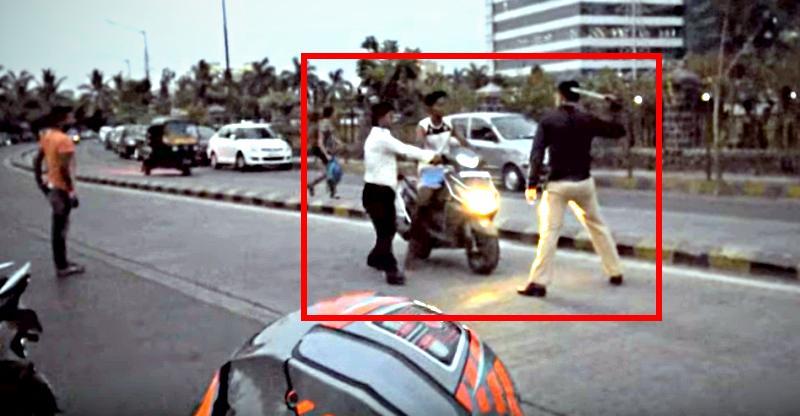 Honda Dio राइडर भाग रहा था, पुलिस ने मारे डंडे, सही या गलत?
