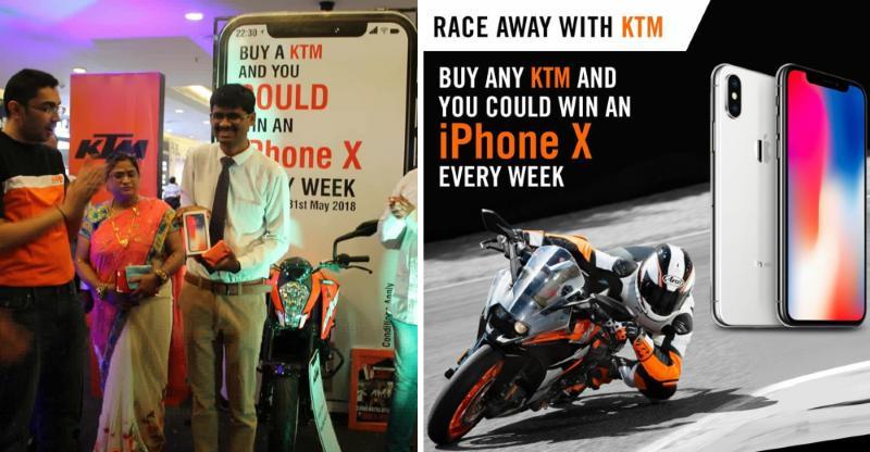 KTM Bike खरीदने पर आप भी जीत सकते हैं iPhone X, जानिये कैसे…