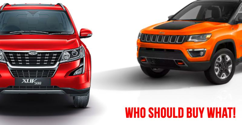 Facelifted Mahindra XUV500 vs Jeep Compass Comparison: क्या चुनना चाहिए आपको?