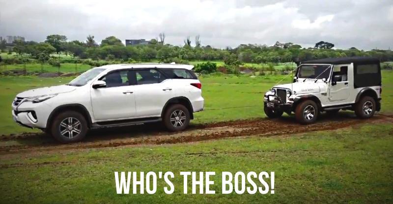 Mahindra Thar और Toyota Fortuner की टक्कर में चला 4X4 का जादू