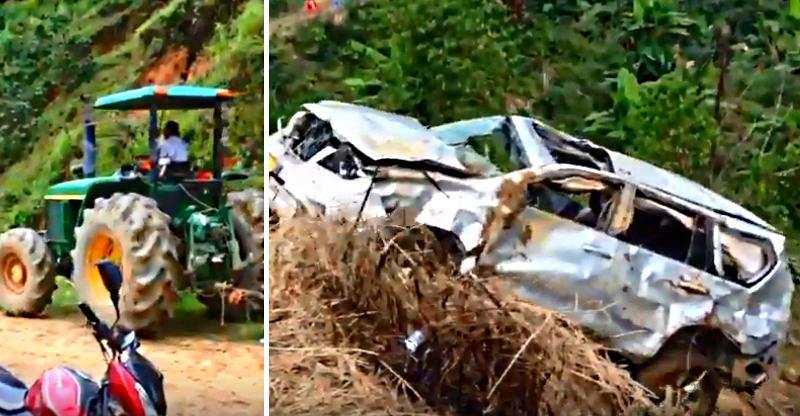 एक्सीडेंट वाली Ford Endeavour SUV को बचाते वक़्त हुआ दूसरा हादसा, देखें कैसे [Video]