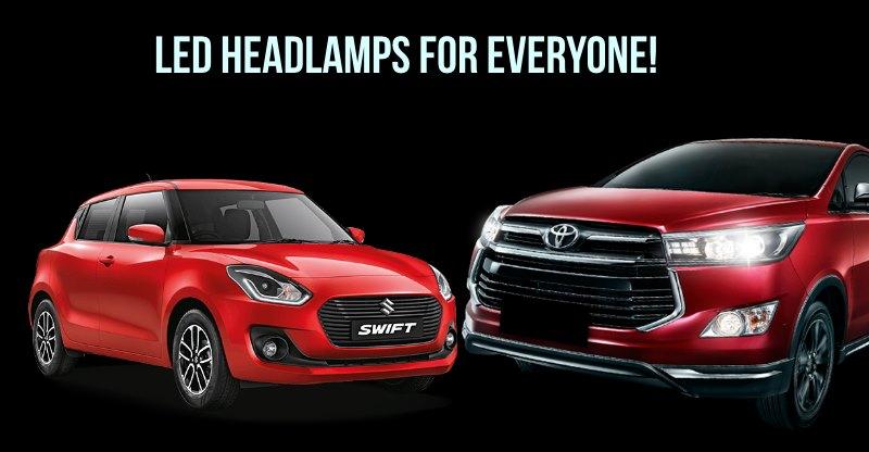 Maruti Suzuki Swift से Honda City तक; इन कार्स में हैं LED Headlamps