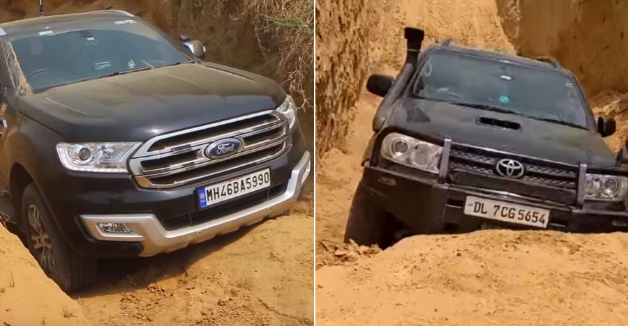 Toyota Fortuner तो पास हो गयी लेकिन Ford Endeavour क्यों हुई ऑफ-रोडिंग में फेल?