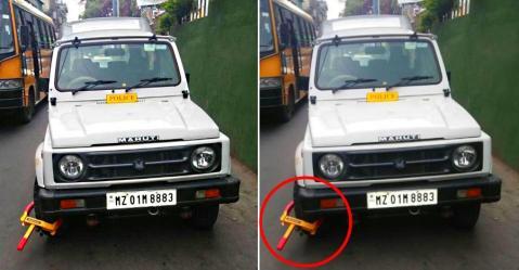 अब पुलिस नहीं तोड़ सकेगी ट्रैफिक नियम; DGP की Maruti Gypsy का कटा चालान!