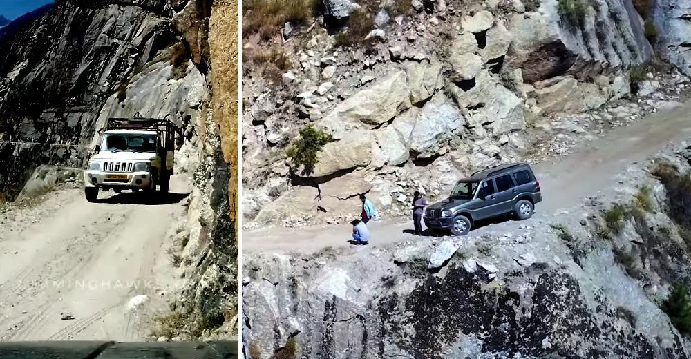 Kishtwar-Killar रोड पर चल रही ये Mahindra Scorpio पग-पग पर मौत को धोखा देती है