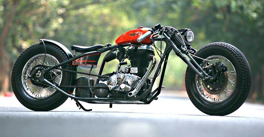 इन Royal Enfield मोटरसाइकिल्स को मॉडिफाई कर चॉपर बनाया गया है, लेकिन ये उड़ते नहीं!
