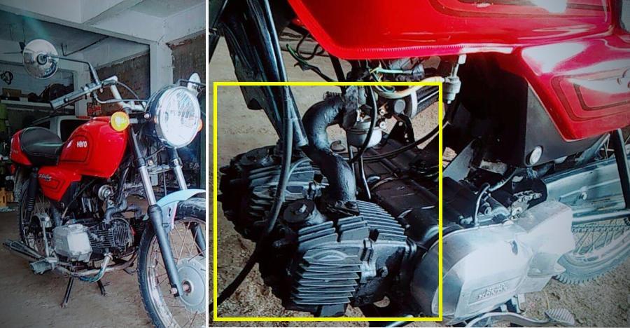 इस Hero Splendor में 'twin cylinder engine' है और ये 120 किमी/घंटे तक जा सकती है!