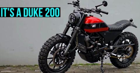 ये मॉडिफाइड KTM Duke 200 एक वर्ल्ड क्लास Scrambler जैसी दिखती है!