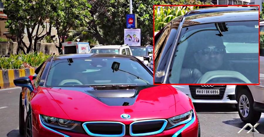 Sachin Tendulkar Mumbai में चला रहे थे अपनी BMW i8 सुपरकार [विडियो]