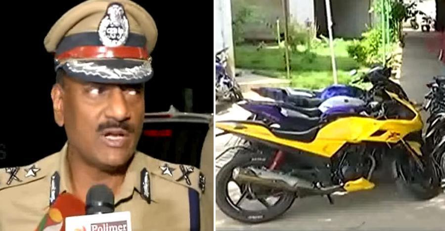 Chennai पुलिस ने 'street racing' के कारण 80 से अधिक बाइक्स ज़प्त कीं [वीडियो]