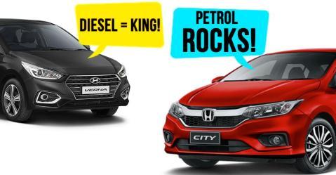 आखिर क्यों कस्टमर्स Honda City के पेट्रोल और Hyundai Verna के डीजल वर्शन को ही खरीद रहे हैं?