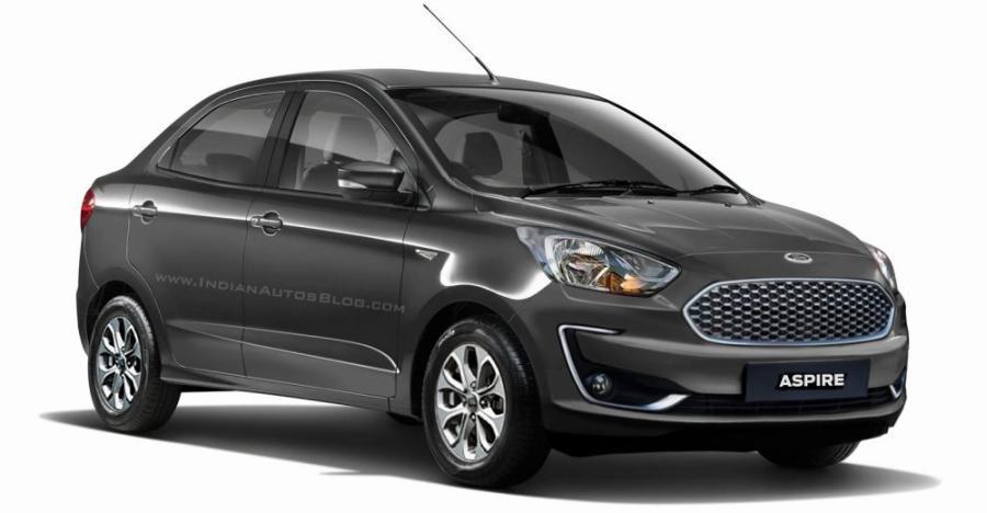Ford Figo Aspire का जल्द लॉन्च होने वाला फेसलिफ्टेड वर्शन कुछ ऐसा दिख सकता है!