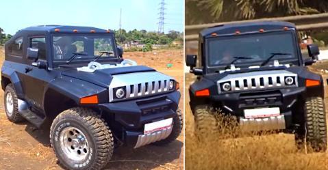 ये GM Hummer है या Mahindra Thar? आप ही देखकर बताएं…