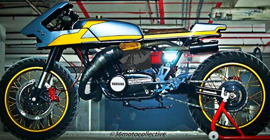 इस मॉडिफाइड Yamaha RD350 कैफ़े रेसर को खरीदने से आप खुद को रोक ना पायेंगे