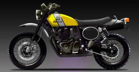 Royal Enfield की 650 सीसी वाली Scrambler बाइक शायद कुछ ऐसी दिखेगी…