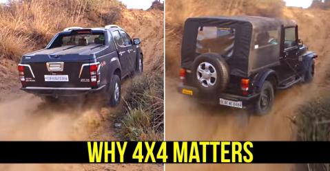 Isuzu V-Cross और Mahindra Thar दिखाते हैं कैसे होता है 4-व्हील ड्राइव का सही इस्तेमाल?