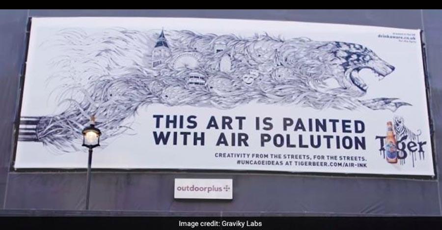 कैसे एक इंडियन ने गाड़ी के धुएँ को कलाकारी में तब्दील कर दिया है!