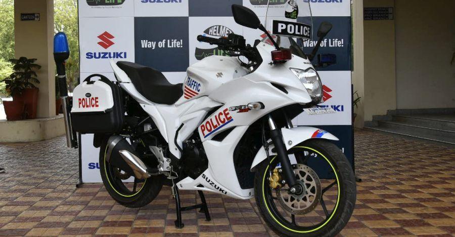 Gurgaon Police अब Suzuki Gixxer SF मोटरसाइकिल्स पर घूमा करेगी, चोरों की शामत!