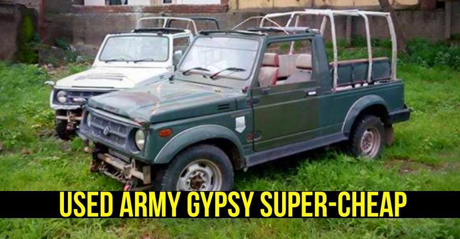 अब आप आर्मी डिस्पोजल Gypsy को मात्र 1 लाख में खरीद सकते हैं!