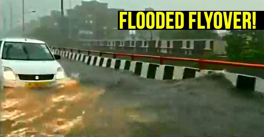 Delhi-NCR में विशाल फ्लाईओवर पर आई बाढ़, लेकिन कैसे?