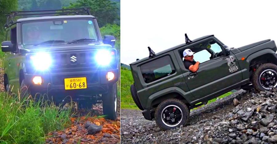नयी Suzuki Jimny के लिए ऑफ-रोडिंग बच्चों का खेल है! [Video]