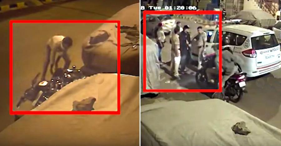 Royal Enfield Classic चुराने की कोशिश कर रहे चोर को पुलिस ने धर दबोचा!