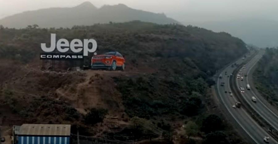 आखिर कैसे बना Mumbai-Pune एक्सप्रेसवे पर Jeep Compass का दैत्याकार होर्डिंग [विडियो]