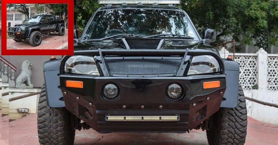 ये मॉडिफाइड Tata Xenon पिक-अप ट्रक किसी दैत्य से कम नहीं लगती!