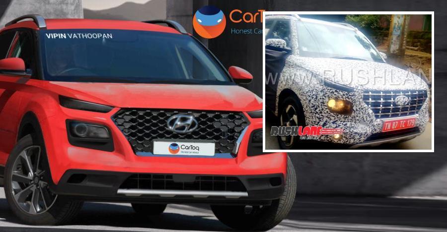 Hyundai Carlino कॉम्पैक्ट SUV को टेस्टिंग के दौरान देखा गया, ये है Creta का छोटा रूप