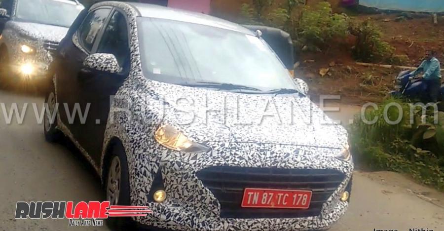 नेक्स्ट जनरेशन Hyundai Grand i10 हैचबैक को इंडिया में टेस्टिंग करते हुए देखा गया…