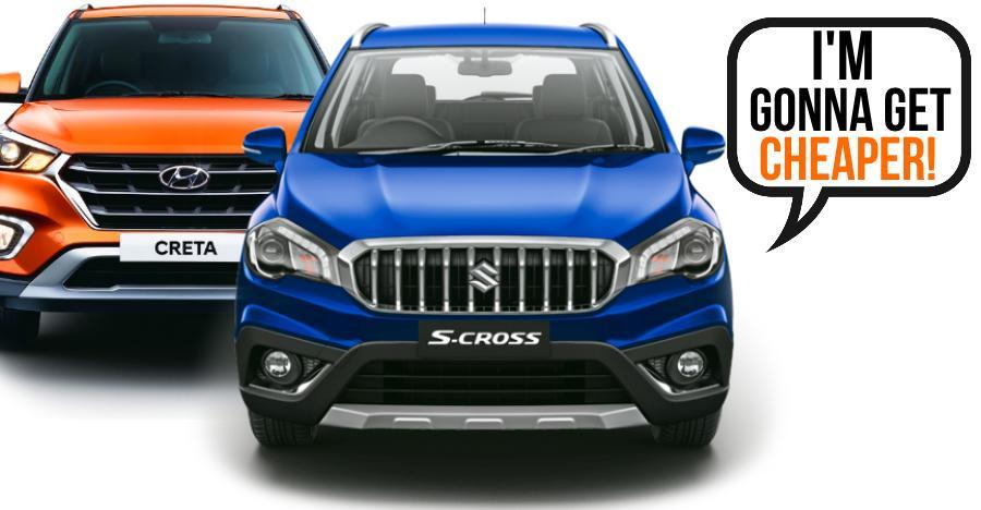 Maruti S-Cross का पेट्रोल हाइब्रिड संस्करण हो सकता है Hyundai Creta से 1.5 लाख रूपए सस्ता!!