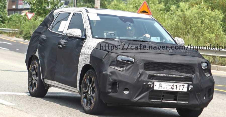 Hyundai Creta को टक्कर देने वाली India आ रही Kia SP-Concept SUV को टेस्टिंग करते हुए देखा गया!